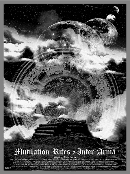 Mutilation Rites / Inter Arma tour poster