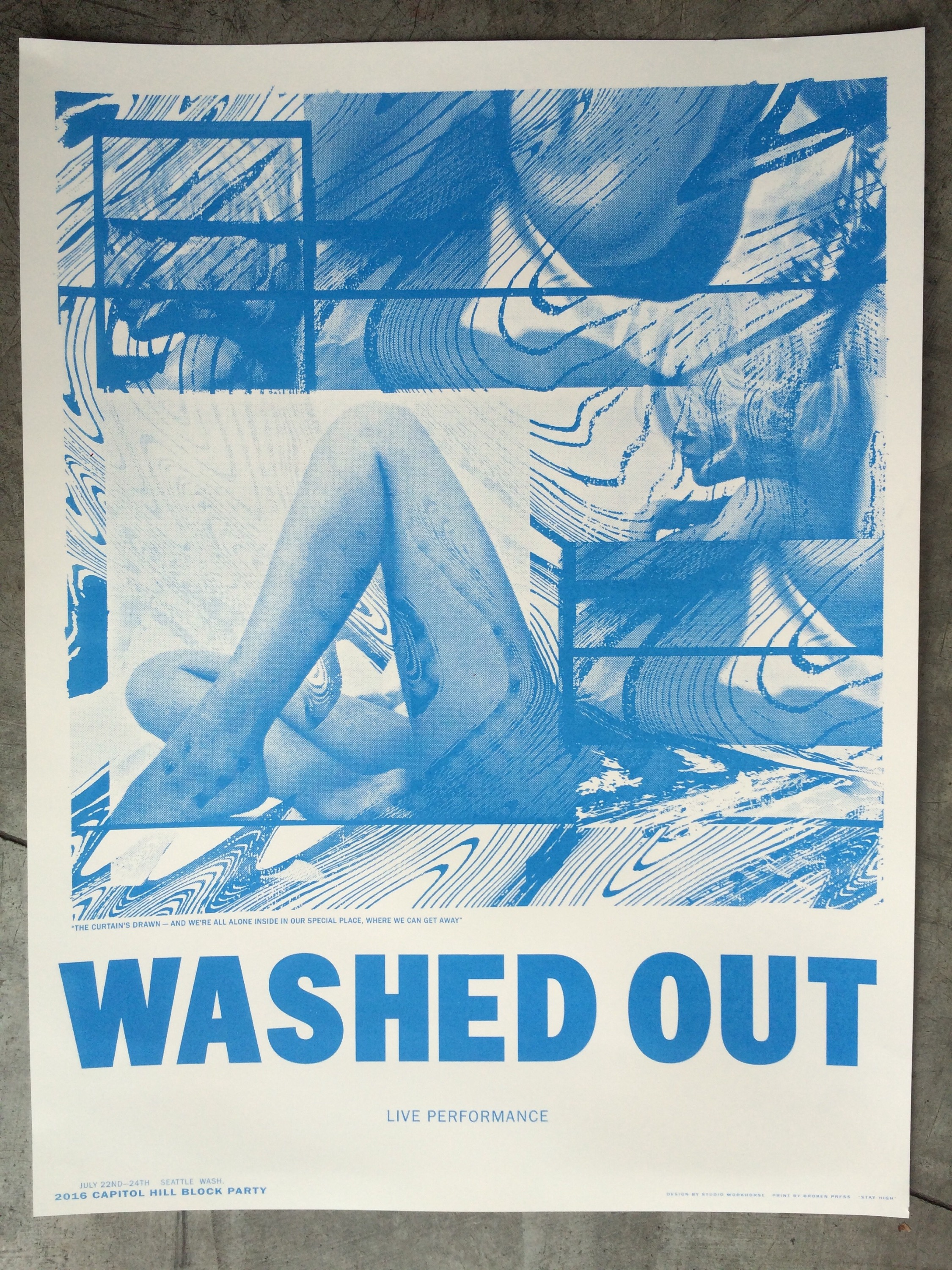 1 color poster design - Washed Out 1 Color Poster Designed By Jordan Butcher Studio Workhorse