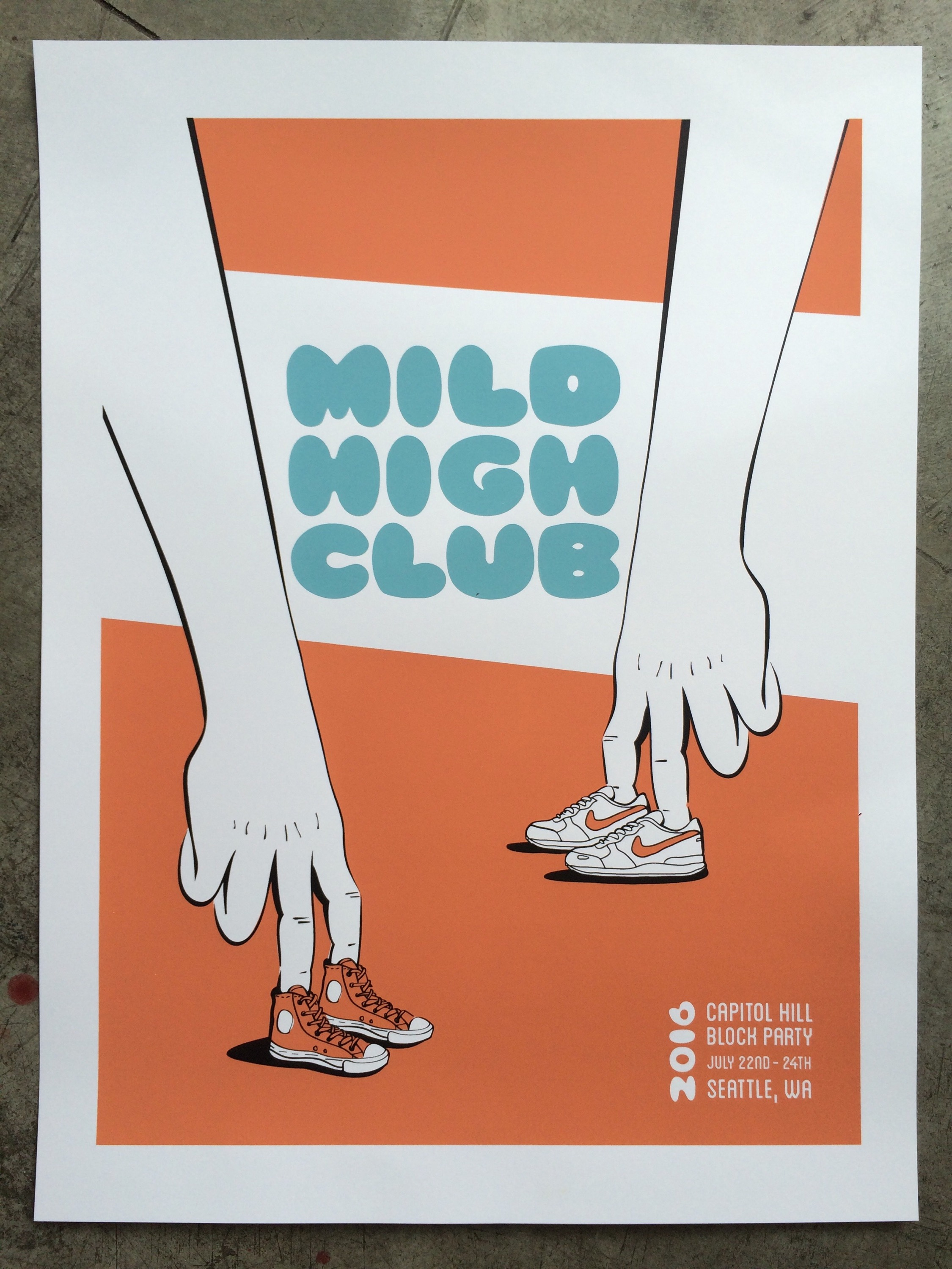 1 color poster design - Mild High Club 3 Color Poster Designed By Callie Logan